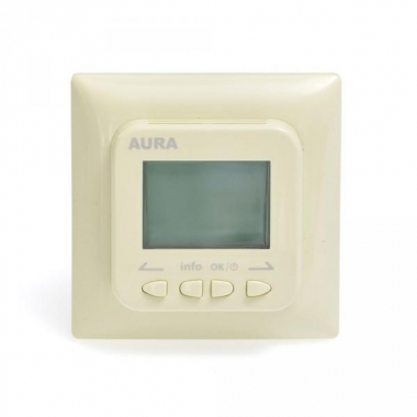 AURA LTC 730 (кремовый/бежевый) - программируемый терморегулятор для теплого пола
