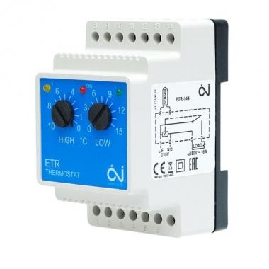 Терморегулятор ETR/F-1447A на DIN-рейку для снеготаяния