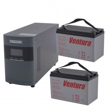 Комплект Оптима 10-100 (ИБП 1000 ВА с двумя внешними АКБ 100 Ач)