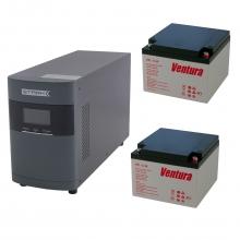 Комплект Оптима 10-26 (ИБП 1000 ВА с двумя внешними АКБ 26 Ач)