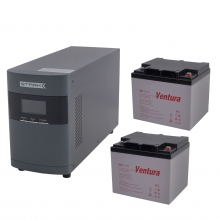 Комплект Оптима 10-40 (ИБП 1000 ВА с двумя внешними АКБ 40 Ач)