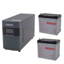 Комплект Оптима 10-55 PRO (ИБП 1000 ВА с двумя внешними АКБ 55 Ач)