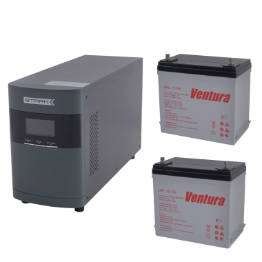 Комплект Оптима 10-55 (ИБП 1000 ВА с двумя внешними АКБ 55 Ач)