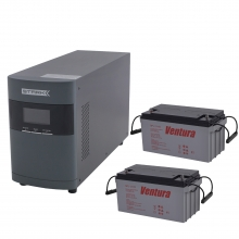 Комплект Оптима 10-65 PRO (ИБП 1000 ВА с двумя внешними АКБ 65 Ач)