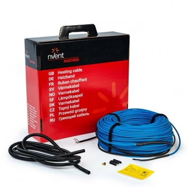 Raychem T2Blue 20 Вт/м, 63 м, 1270 Вт - греющий кабель в стяжку. Обогрев от 7,7 до 10,6 кв.м.