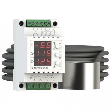 Terneo sn - терморегулятор на DIN-рейку для снеготаяния с датчиком осадков