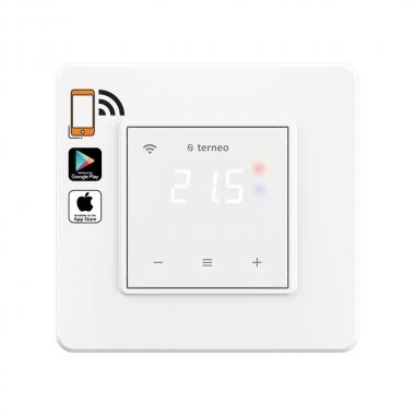 terneo sx белый - wifi терморегулятор с сенсорным экраном