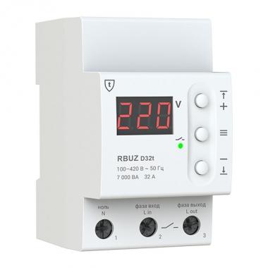 RBUZ D32t - реле напряжения с температурной защитой на 32 Ампера