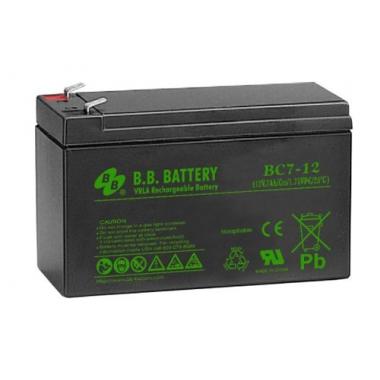 BB Battery BC 7-12 - универсальный аккумулятор 12 В, 7 Ач