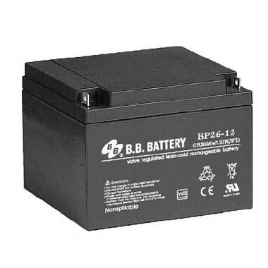 BB Battery BP 26-12 - универсальный аккумулятор 12 В, 26 Ач