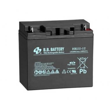 BB Battery HR 22-12  - аккумулятор с повышенной энергоотдачей на коротких временах разряда 12 В, 20 Ач