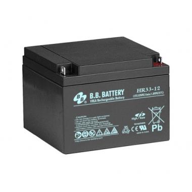 BB Battery HR 33-12  - аккумулятор с повышенной энергоотдачей на коротких временах разряда 12 В, 31 Ач