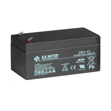 BB Battery HR 4-12 - аккумулятор с повышенной энергоотдачей на коротких временах разряда 12 В, 4 Ач