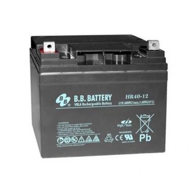 BB Battery HR 40-12  - аккумулятор с повышенной энергоотдачей на коротких временах разряда 12 В, 38 Ач