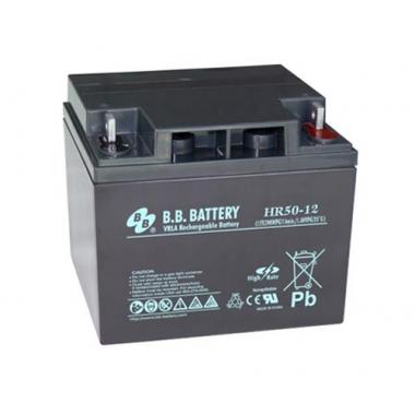 BB Battery HR 50-12  - аккумулятор с повышенной энергоотдачей на коротких временах разряда 12 В, 48 Ач