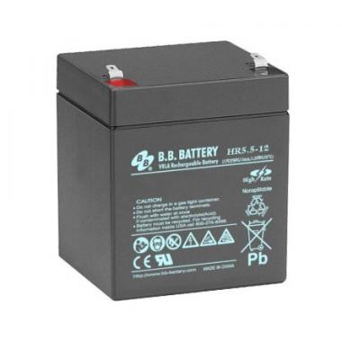 BB Battery HR 5.5-12 - аккумулятор с повышенной энергоотдачей на коротких временах разряда 12 В, 5.5 Ач