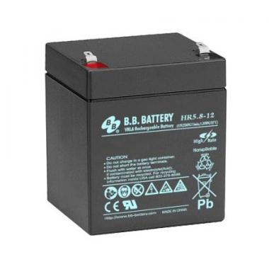 BB Battery HR 5.8-12 - аккумулятор с повышенной энергоотдачей на коротких временах разряда 12 В, 5.8 Ач