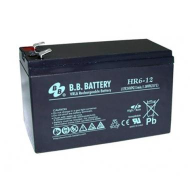 BB Battery HR 6-12 - аккумулятор с повышенной энергоотдачей на коротких временах разряда 12 В, 6 Ач