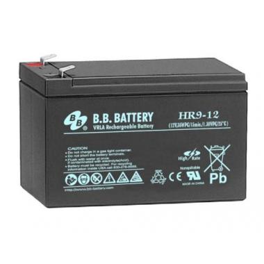 BB Battery HR 9-12  - аккумулятор с повышенной энергоотдачей на коротких временах разряда 12 В, 8 Ач