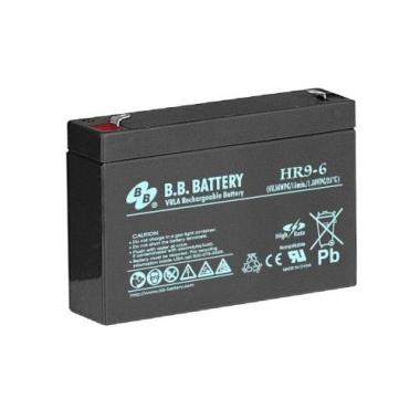 BB Battery HR 9-6 - аккумулятор с повышенной энергоотдачей на коротких временах разряда 6 В, 9 Ач