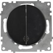 Переключатель двухклавишный OKE Florence. Цвет черный