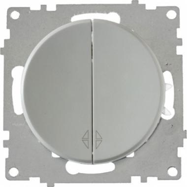 Переключатель двухклавишный OneKeyElectro серии Florence. Цвет серый