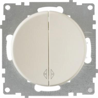 Переключатель двухклавишный OneKeyElectro серии Florence. Цвет бежевый