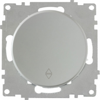 Переключатель одноклавишный OneKeyElectro серии Florence. Цвет серый