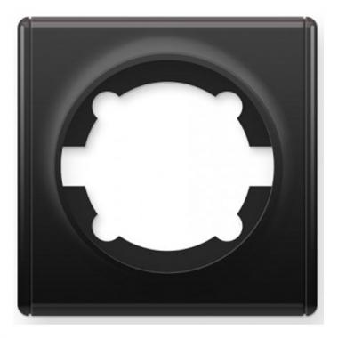 Рамка одинарная OneKeyElectro серии Florence. Цвет черный