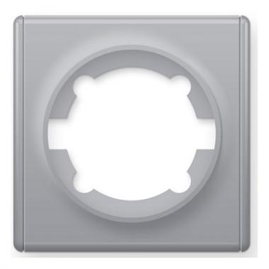 Рамка одинарная OneKeyElectro серии Florence. Цвет серый
