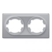 Рамка двойная OKE Florence. Цвет серый