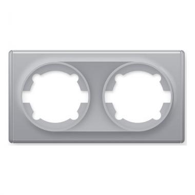 Рамка двойная OneKeyElectro серии Florence. Цвет серый