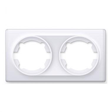 Рамка двойная OneKeyElectro серии Florence. Цвет белый