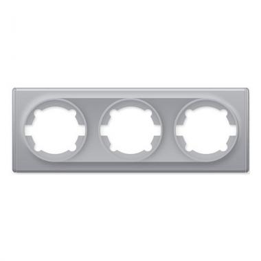 Рамка тройная OneKeyElectro серии Florence. Цвет серый