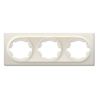 Рамка тройная OneKeyElectro серии Florence. Цвет бежевый