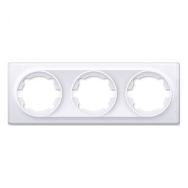 Рамка тройная OneKeyElectro серии Florence. Цвет белый