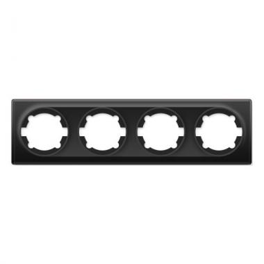 Групповая рамка на четыре механизма OneKeyElectro серии Florence. Цвет черный