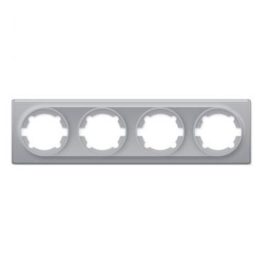Групповая рамка на 4-е механизма OneKeyElectro серии Florence. Цвет серый