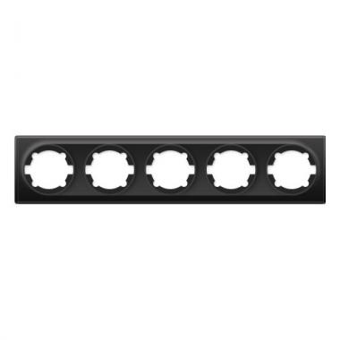 Групповая рамка на пять механизмов OneKeyElectro серии Florence. Цвет черный