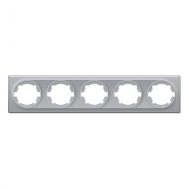Групповая рамка на 5-ть механизмов OneKeyElectro серии Florence. Цвет серый