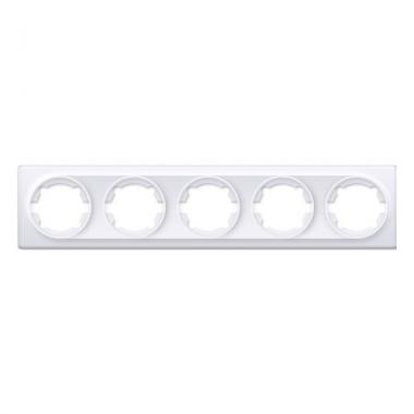 Рамка на пять изделий OneKeyElectro серии Florence. Цвет белый