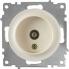 Розетка антенная ТВ OneKeyElectro серии Florence. Цвет бежевый