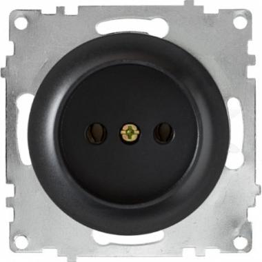 Розетка без заземления OneKeyElectro серии Florence. Цвет черный