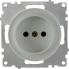 Розетка без заземления OneKeyElectro серии Florence. Цвет серый