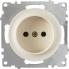 Розетка без заземления OneKeyElectro серии Florence. Цвет бежевый