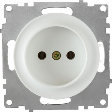 Розетка без заземления OneKeyElectro серии Florence. Цвет белый