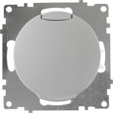 Розетка с заземлением и защитной крышкой OneKeyElectro серии Florence. Цвет серый