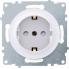 Розетка с заземлением и шторками OneKeyElectro серии Florence. Цвет белый