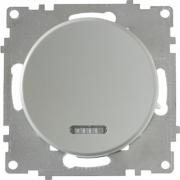 Выключатель одноклавишный с подсветкой OKE Florence. Цвет серый