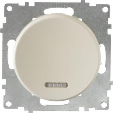 Выключатель одноклавишный с подсветкой OneKeyElectro серии Florence. Цвет бежевый